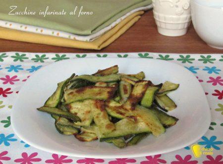 Zucchine infarinate al forno (ricetta light)