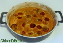 Clafoutis di pomodorini confit (ricetta francese)