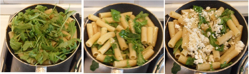 pasta con feta e rucola ricetta veloce il chicco di mais 2