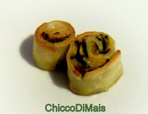 Rotolini ripieni di zucchine patate e formaggio