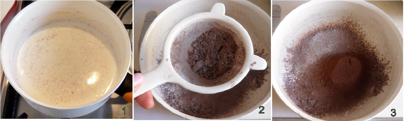 Coppa di cioccolato alle pesche ricetta dolce veloce il chicco di mais 1
