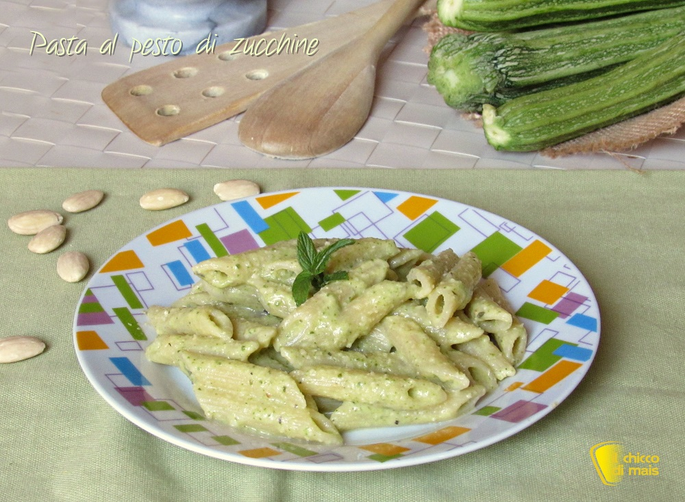primi veloci Pasta al pesto di zucchine ricetta light con zucchine cotte il chicco di mais
