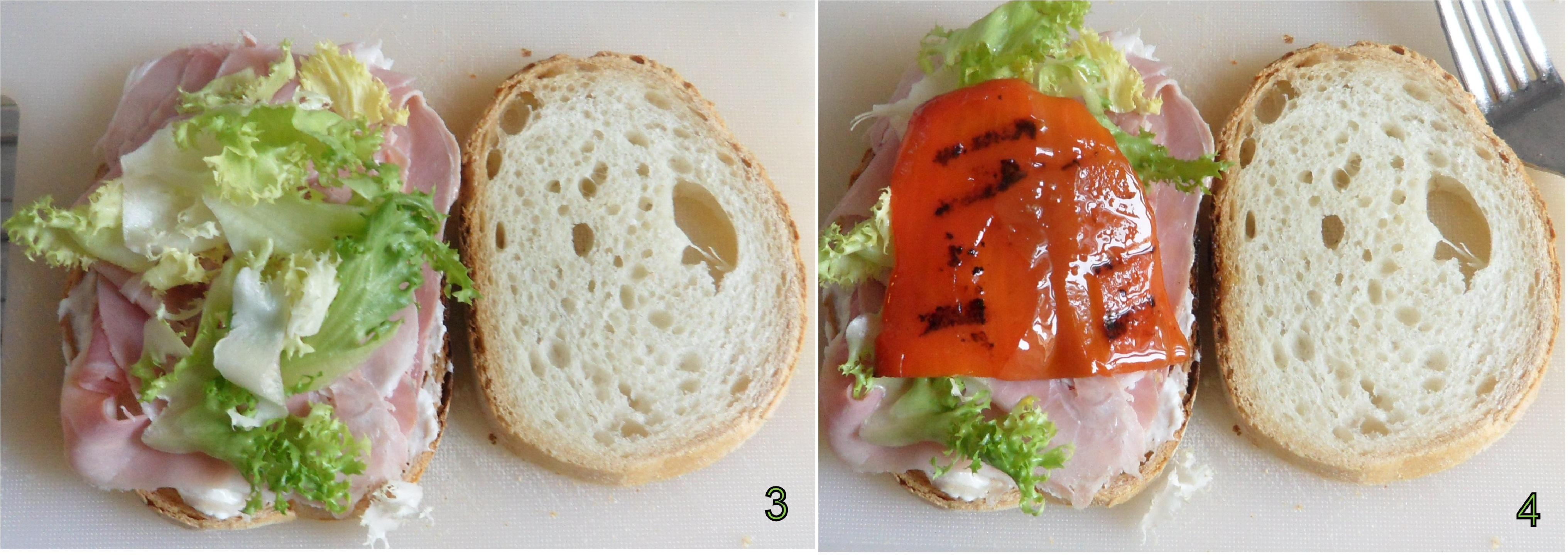panino con prosciutto cotto stracchino e peperoni ricetta ricca il chicco di mais 2