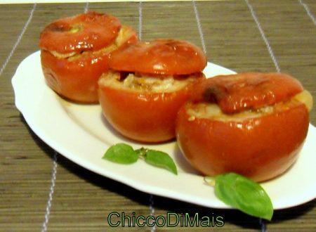 Pomodori ripieni di melanzane alla parmigiana (ricetta vegetariana)
