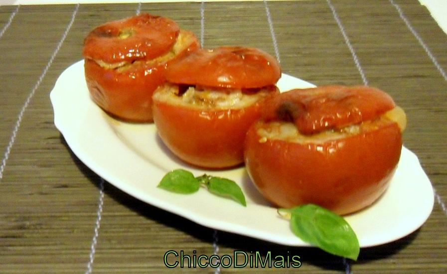 Ricette con melanzane facili e veloci il chicco di mais pomodori ripieni di melanzane