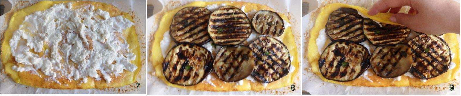 rotolo di frittata con stracchino e melanzane ricetta piatto freddo il chicco di mais 3