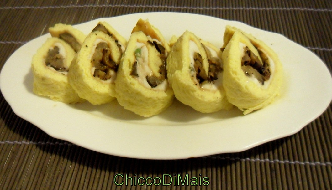 Ricette con melanzane facili e veloci il chicco di mais rotolo di frittata con melanzane