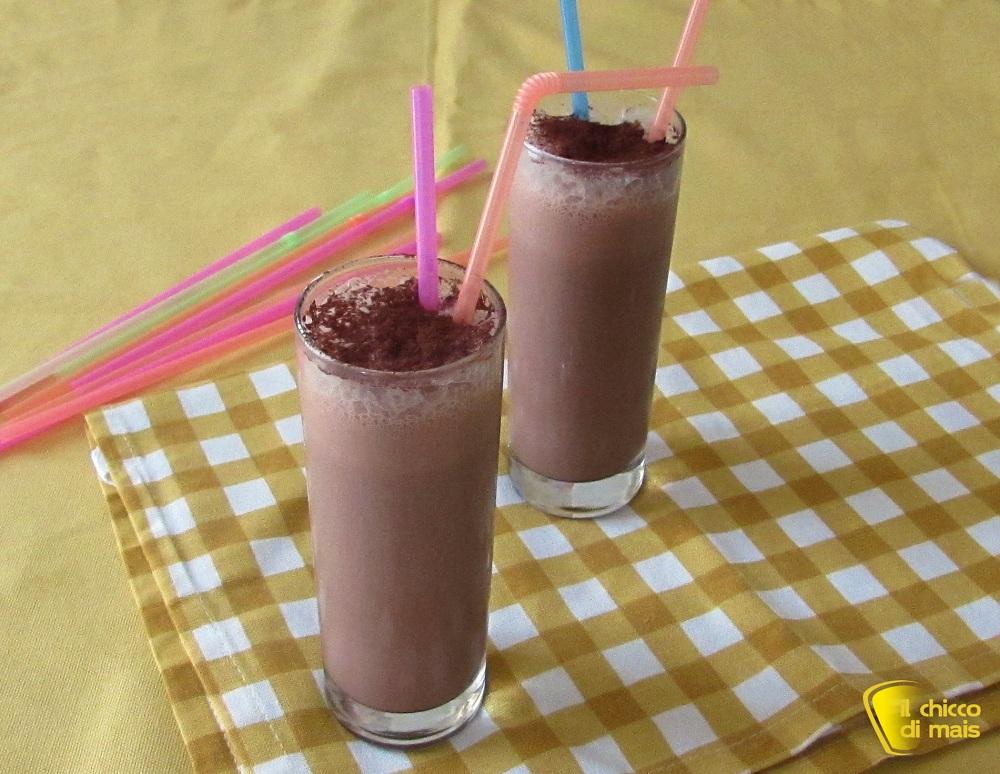 dolci senza forno Frappè al cioccolato ricetta con gelato il chicco di mais