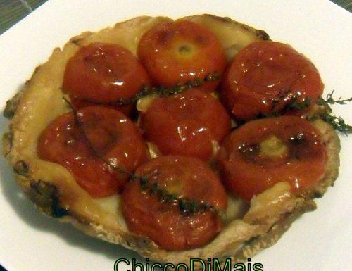 Tatin con pomodori e scamorza (ricetta torta salata)