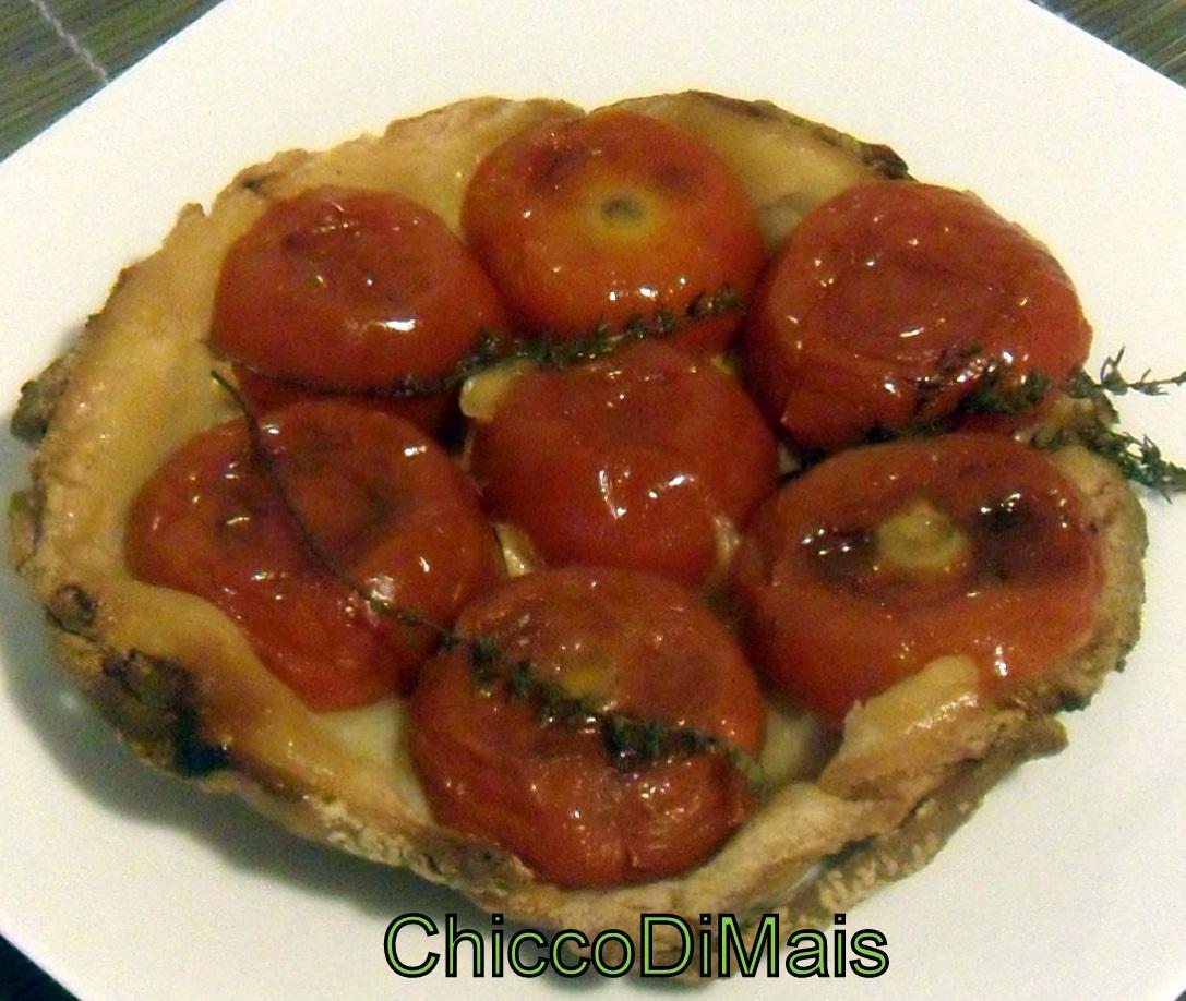 Tatin con pomodori e scamorza ricetta torta salata il chicco di mais