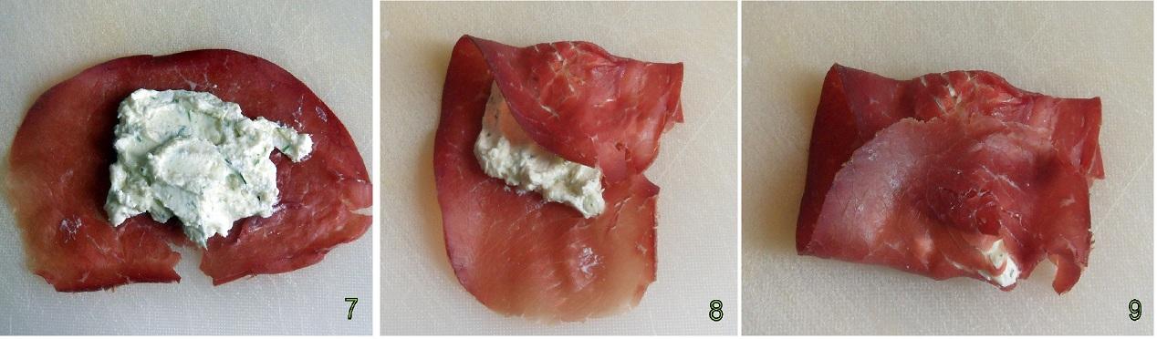 pacchetti di bresaola con formaggio alle erbe ricetta finger-food il chicco di mais 3