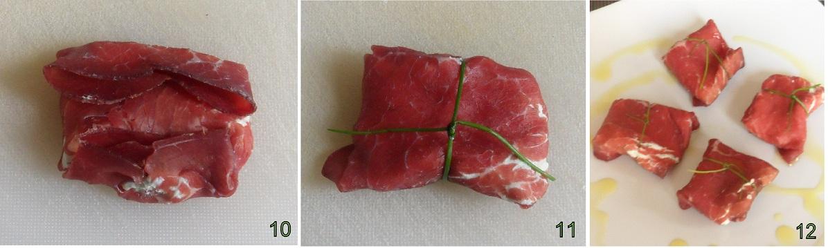pacchetti di bresaola con formaggio alle erbe ricetta finger-food il chicco di mais 4