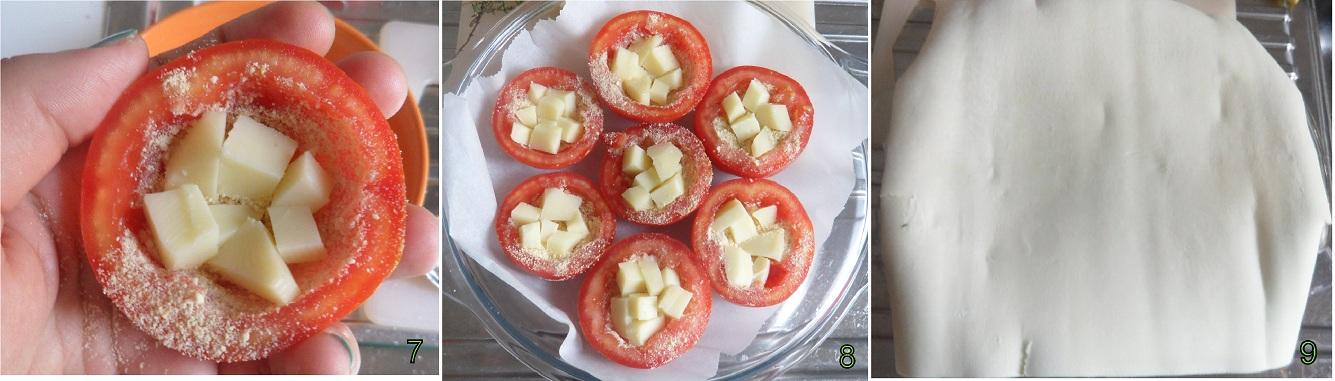Tatin con pomodori e scamorza ricetta torta salata il chicco di mais 3
