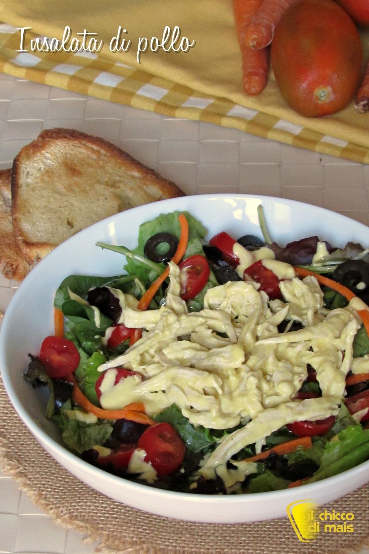 verticale_insalata di pollo con salsa saporita ricetta piatto unico insalatona ricca il chicco di mais
