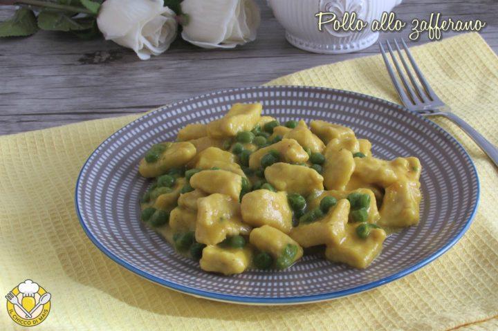 Bocconcini di pollo allo zafferano con piselli ricetta secondo cremoso facile e veloce il chicco di mais