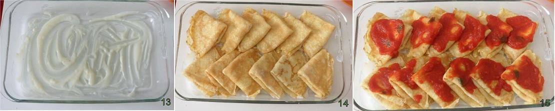 Crepes con prosciutto e formaggio 5 condire le crespelle
