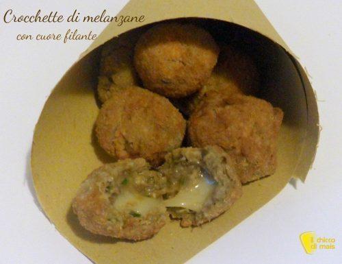 Crocchette di melanzane con cuore filante (ricetta antipasto)