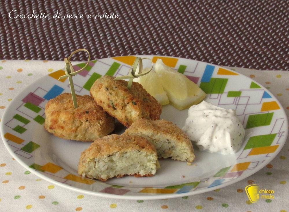 Crocchette di pesce e patate ricetta finger-food il chicco di mais