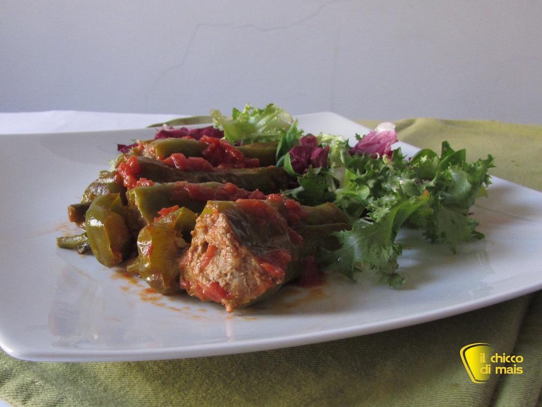 Friggitelli ripieni di carne ricetta secondo il chicco di mais