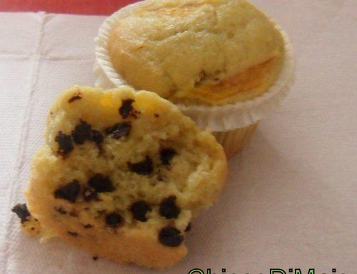 Muffin alla pesca con gocce di cioccolato (ricetta dolce)