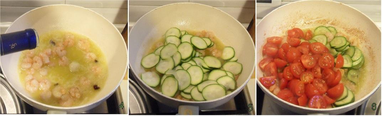 Pasta con gamberi e zucchine ricetta primo il chicco di mais 2