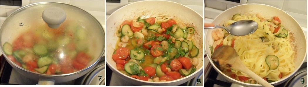 Pasta con gamberi e zucchine ricetta primo il chicco di mais 3