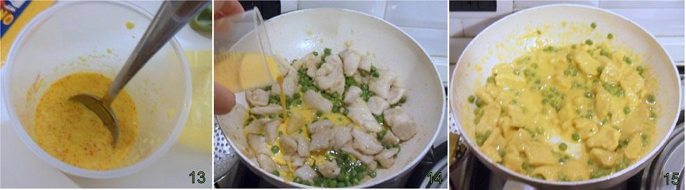 Bocconcini di pollo allo zafferano con piselli ricetta secondo il chicco di mais 5