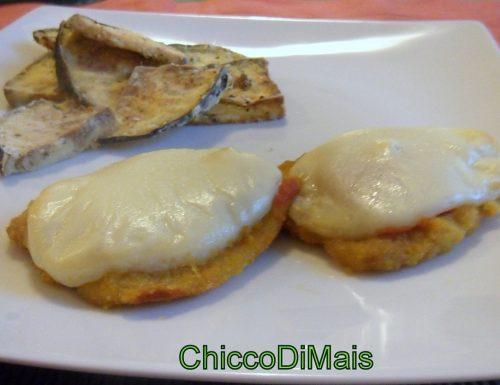 Fettine panate con pomodoro e formaggio (ricetta del riciclo)