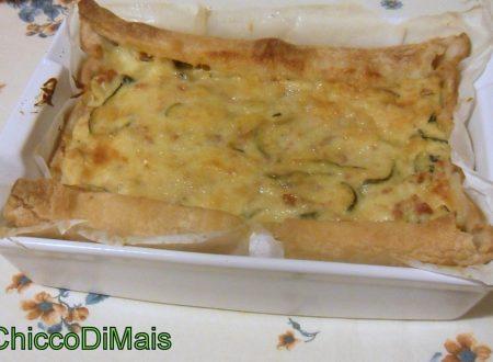 Torta salata con zucchine e salsiccia (ricetta antipasto)