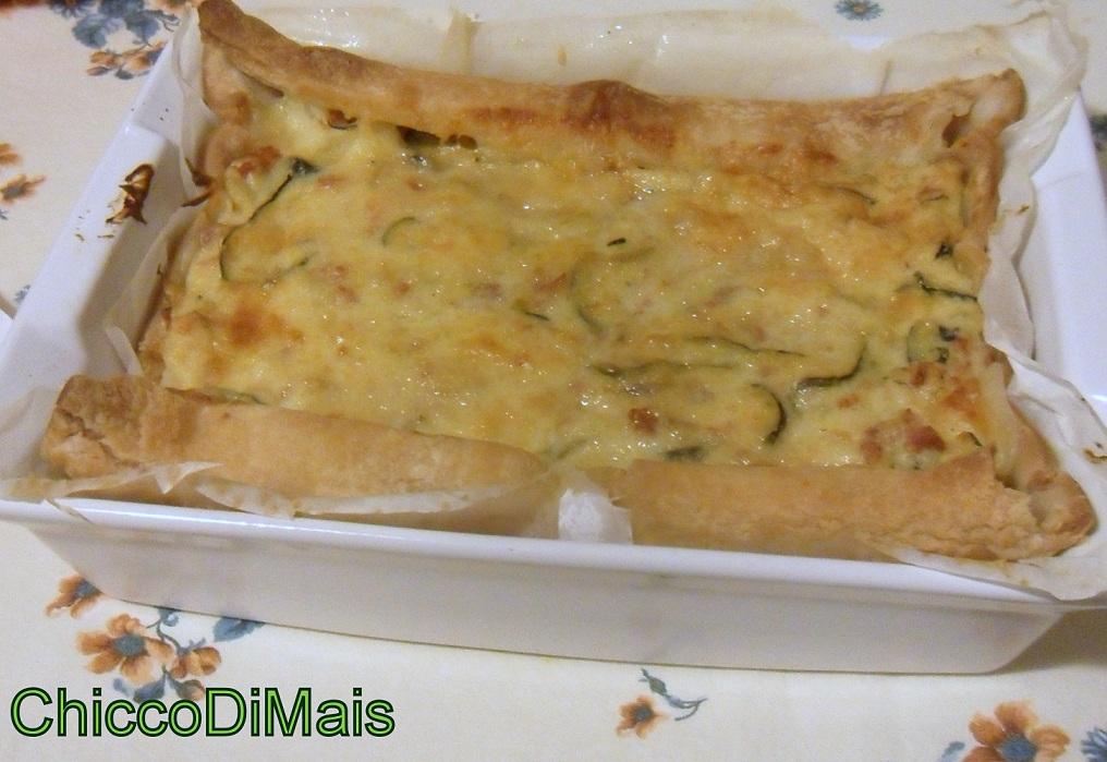 Ricette con zucchine facili e veloci il chicco di mais torta salata con zucchine e salsiccia
