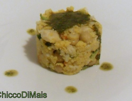 Couscous con merluzzo verdure e salsa al basilico (ricetta piatto unico)
