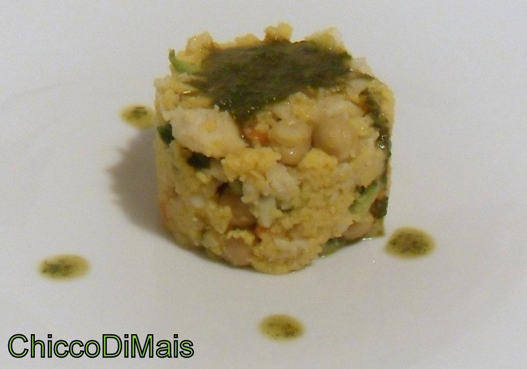 Couscous con merluzzo verdure e salsa al basilico ricetta piatto unico il chicco di mais