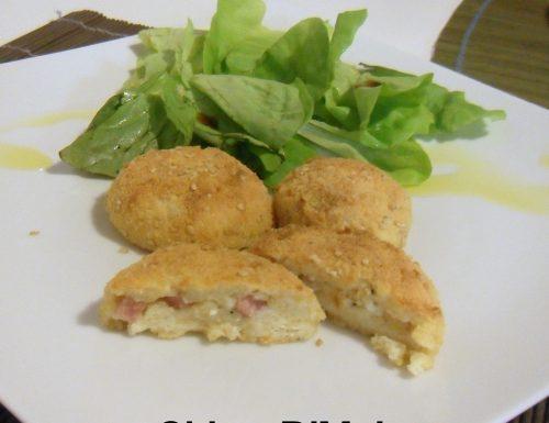 Crocchette di ricotta farcite (ricetta al forno)