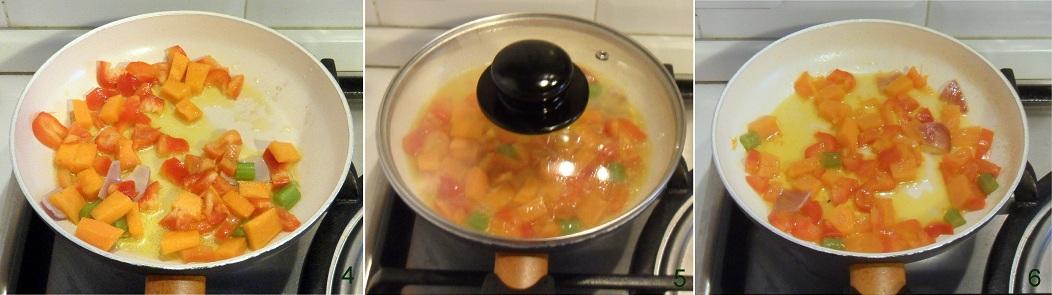 Pasta con crema di zucca e peperoni ricetta vegetariana il chicco di mais 2