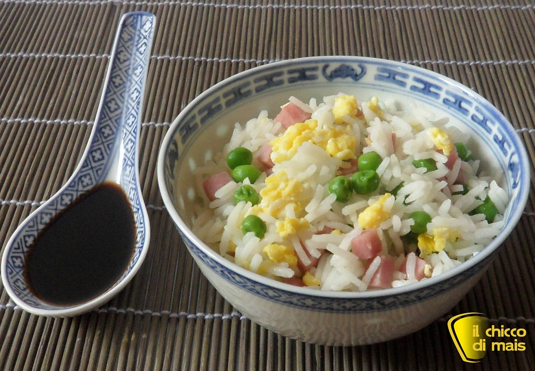 Riso cantonese ricetta cinese Il chicco di mais