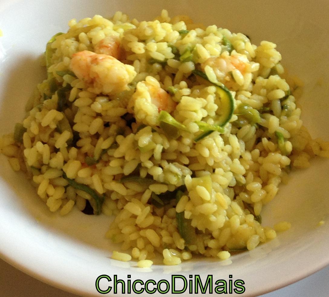 Ricette con zucchine facili e veloci il chicco di mais riso con gamberi e verdure