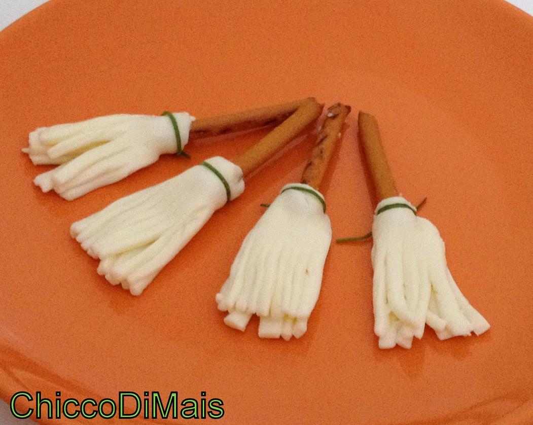 Scope della strega ricetta antipasto per Halloween il chicco di mais