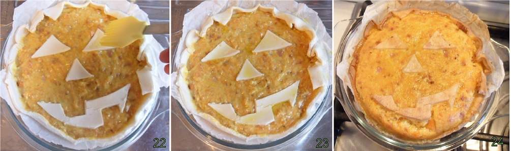 Torta salata con zucca e pancetta ricetta per Halloween Il chicco di mais 8