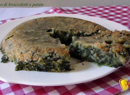 Tortino di broccoletti e patate (ricetta contorno)