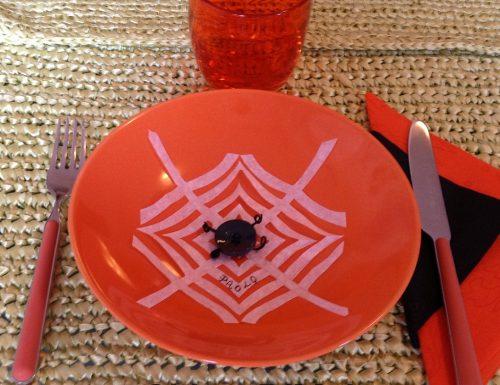 Speciale decorazioni di Halloween segnaposto ragnatela