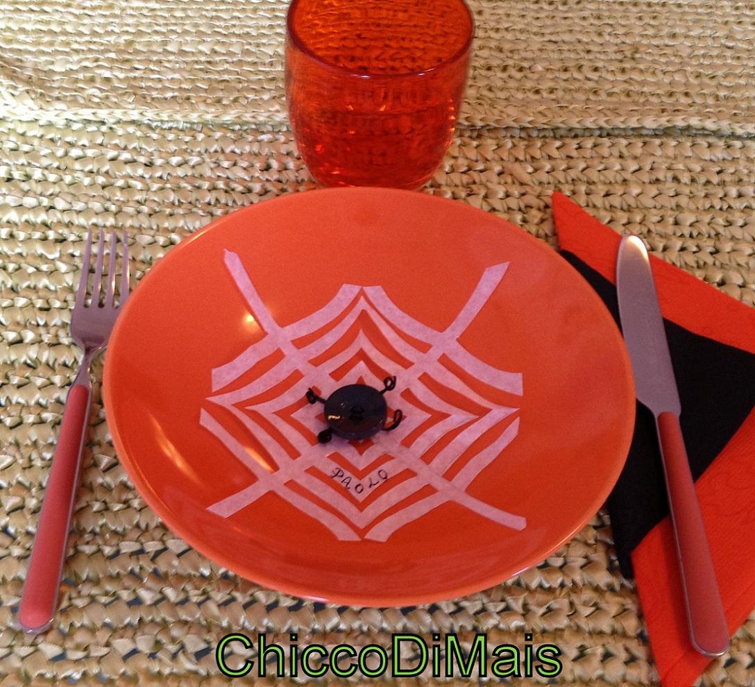 decorazioni di halloween segnaposto ragnatela fai da te il chicco di mais