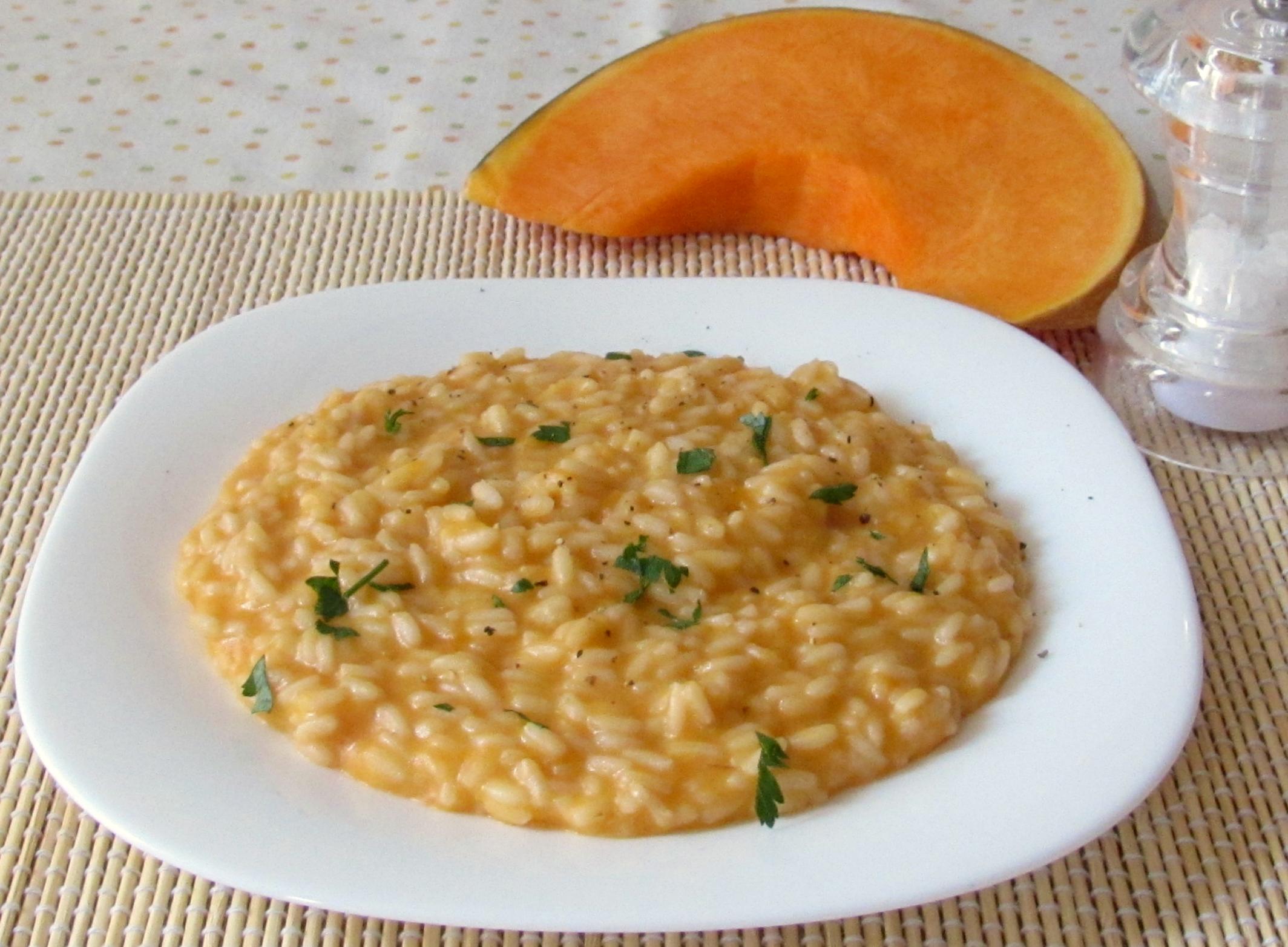 ricette con la zucca risotto alla zucca chicco di mais