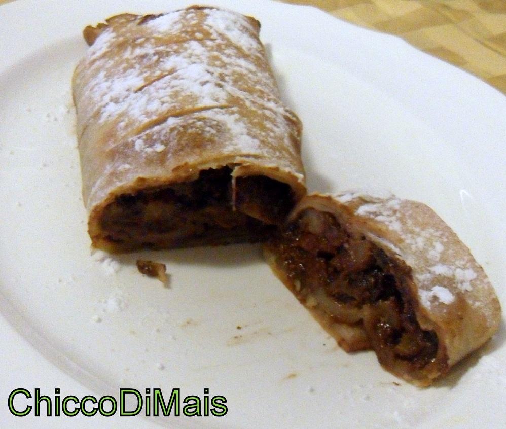 strudel di pere e cioccolato ricetta dolce il chicco di mais