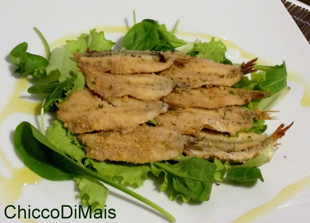 10 secondi di pesce per natale 2014 Alici panate al forno ricetta light il chicco di mais