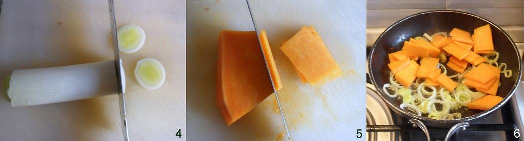 Frittata di farina di ceci con porro e zucca ricetta vegana il chicco di mais 2