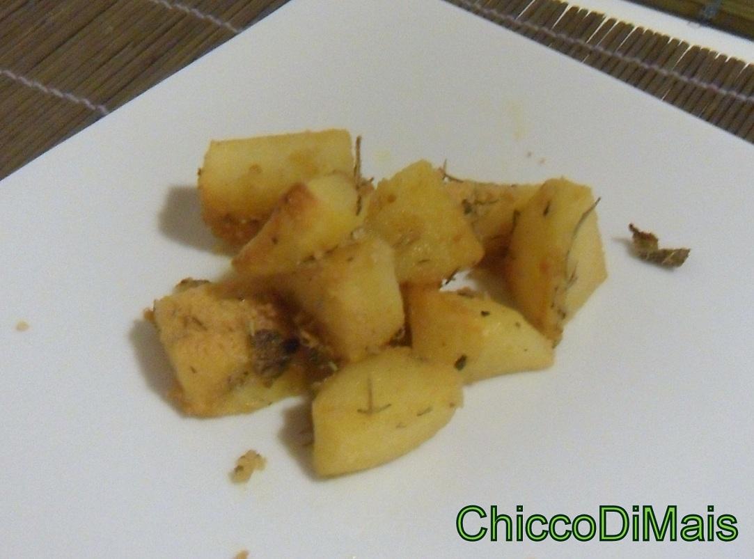 Contorno menu economico Patate sabbiose ricetta il chicco di mais