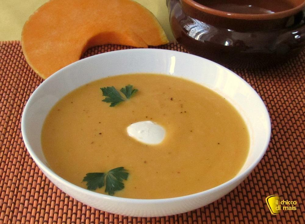 ricette con la zucca Vellutata di zucca ricetta vegetariana il chicco di mais