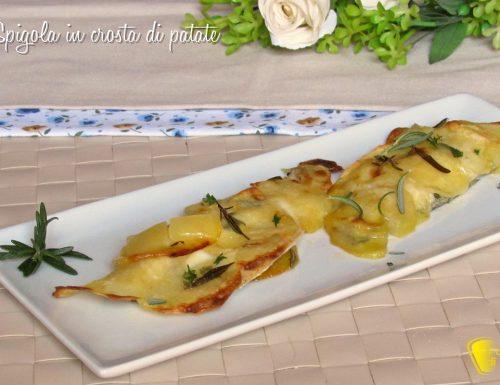 Spigola in crosta di patate a sfoglia