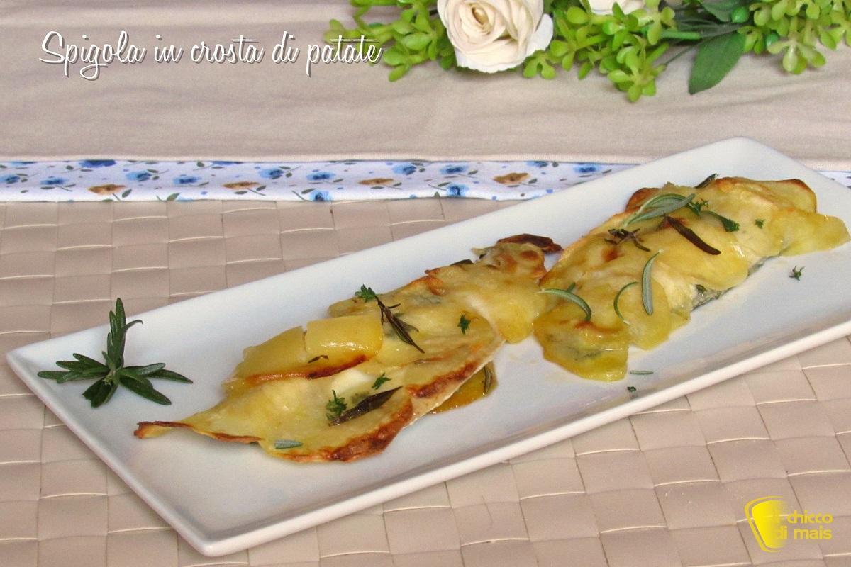 spigola in crosta di patate ricetta facile pesce coperto con chips di patate il chicco di mais