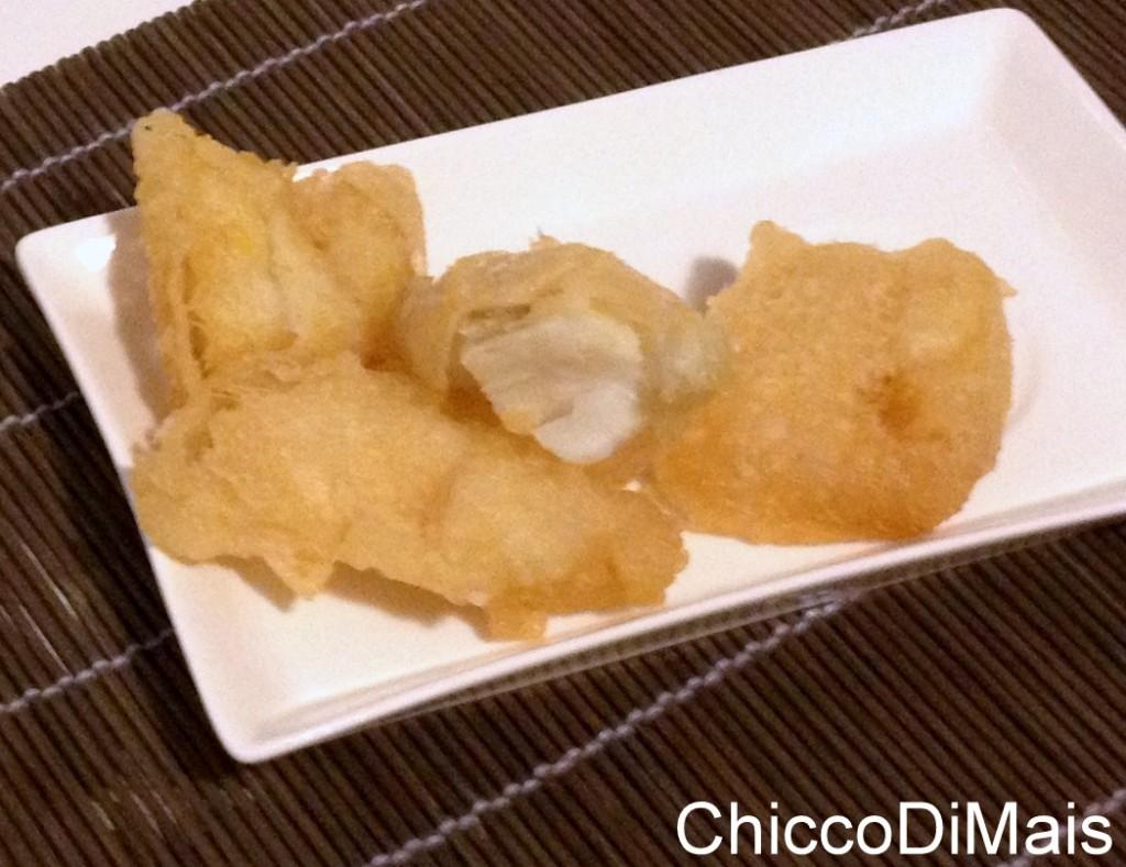 Antipasto della vigilia filetto di baccala fritto ricetta menu di Natale il chicco di mais